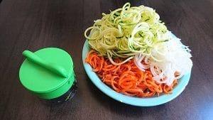 Gemüse Spaghetti Schneider Menge