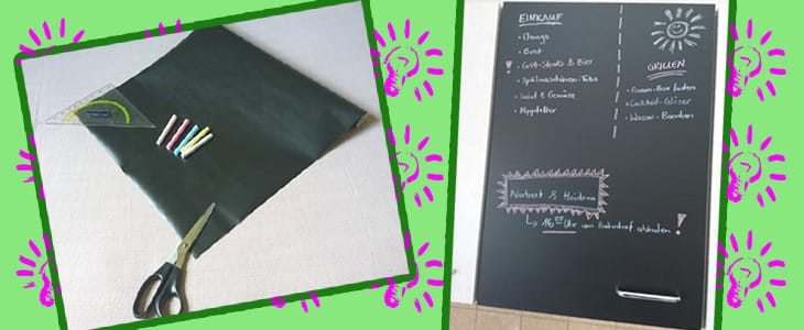 selbstklebende tafelfolie perfekte memo boards f r die k che. Black Bedroom Furniture Sets. Home Design Ideas