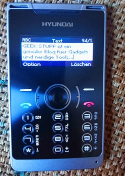 SMS Scheckkartenhandy