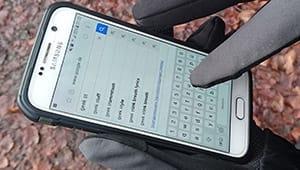 Touchscreen Handschuhe Test Schreiben