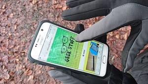 Touchscreen Handschuhe Test wischen