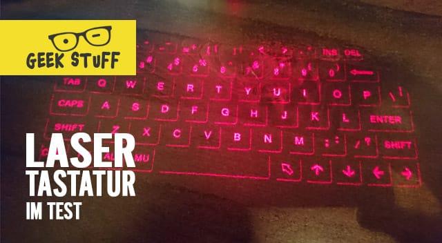 Laser Tastatur Test Video