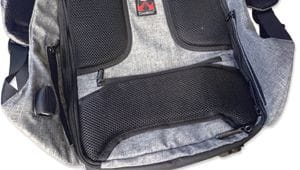 diebstahlsicherer Rucksack Rücken