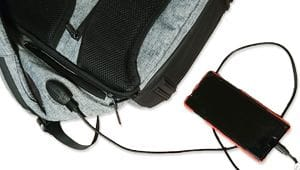 diebstahlsicherer Rucksack USB