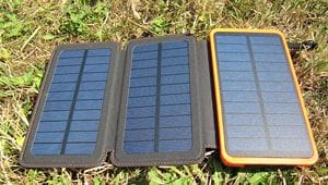 Solar Powerbank Test Sonne laden