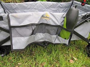 Faltbarer Bollerwagen Seitentasche