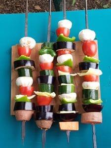 Gemüse Spieße für den Tandoor Ofen