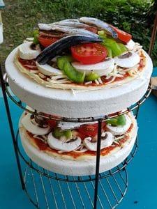Pizza im Tandoor Ofen