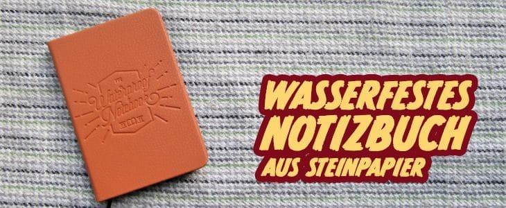 Steinpapier Notizbuch