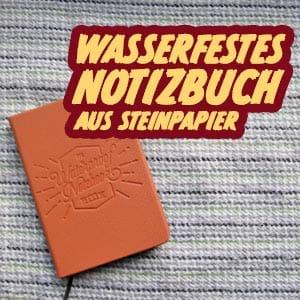 Steinpapier Notizbuch Test