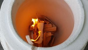 Tandoor Ofen Feuer