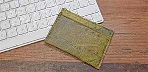 Veganer Geldbeutel: Maße und ungefähre Abmessung des veganen Geldbeutels aus Blattleder