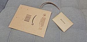 Besonders nachhaltig: beim Versand werden nur Recycling-Kartons verwendet ohne Kunststoffe