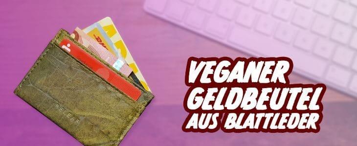 Veganer Geldbeutel Blattleder
