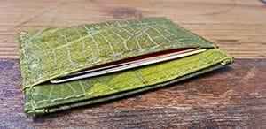 Veganer Geldbeutel im Test: Wir testen wie viele Karten sich in das Kartenfach des veganen Geldbeutels einstecken lassen